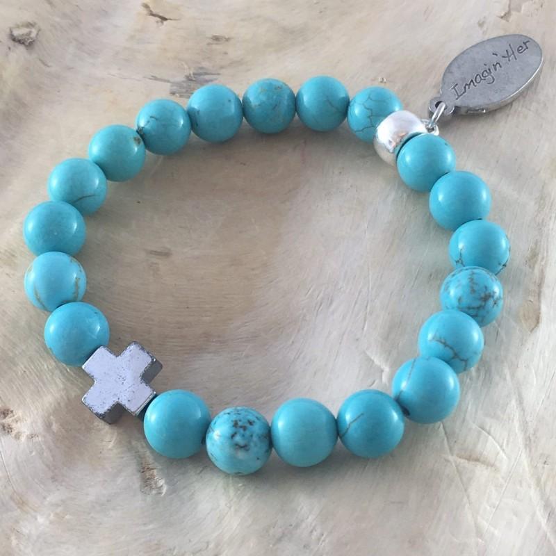 Bracelet en turquoise homme
