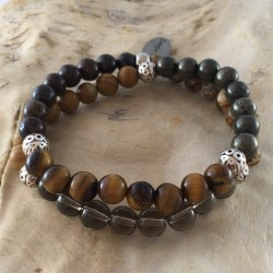 BDH-108 - Bracelet double homme